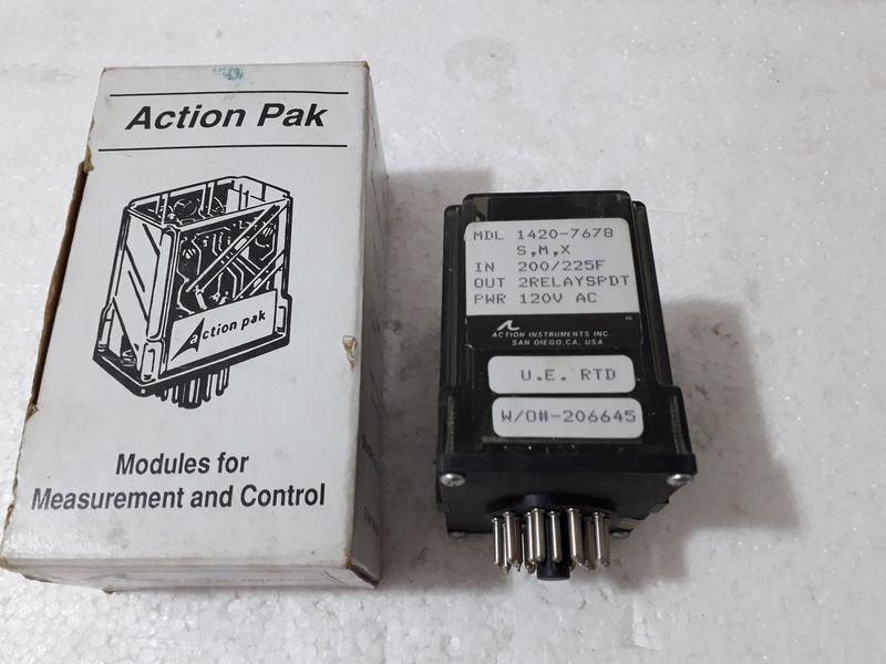 ACTION PAK INSTRUMENTS MDL 1420-7678 S,M,X 200/225F Relay