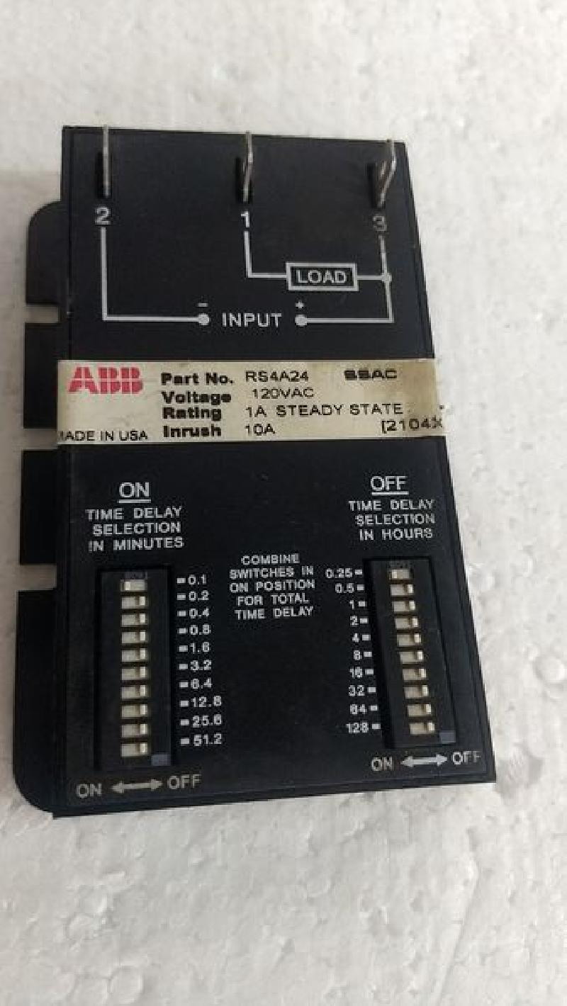 Solid State Timer Relay ABB RS4A24 SSAC 120VAC 1A Steady State - USA